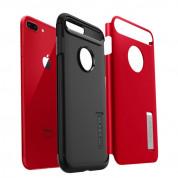 Spigen Slim Armor Case - хибриден кейс с поставка и най-висока степен на защита за iPhone 8 Plus, iPhone 7 Plus (червен) 2