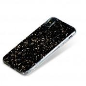 Bling My Thing Chic TPU Onyx Gold - силиконов (TPU) калъф за iPhone XS, iPhone X (черен) 2