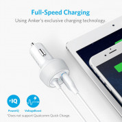 Anker PowerDrive 2 Elite with Lightning Connector - зарядно за кола с USB изход и вграден Lightning кабел (бял) 1