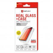 Displex Real Glass 10H Protector 2D with TPU Case - силиконов калъф и калено стъклено защитно покритие за дисплея на iPhone XR (прозрачен) 2