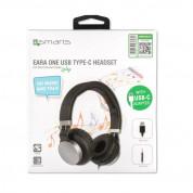 4smarts Stereo Headset Eara One with USB-C and 3.5 mm - слушалки с 3.5 мм. аудио жак с микрофон и USB-C адаптер за мобилни устройства (черен) 5