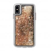 CaseMate Waterfall Glow Case - дизайнерски кейс с висока защита за Apple iPhone XS, iPhone X (златист)