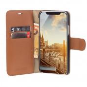 JT Berlin BookCase Kreuzberg Case - хоризонтален кожен (естествена кожа) калъф тип портфейл за iPhone XS Max (кафяв) 5
