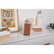 JT Berlin BookCase Kreuzberg Case - хоризонтален кожен (естествена кожа) калъф тип портфейл за iPhone XS Max (кафяв) 6