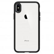 Spigen Ultra Hybrid Case - хибриден кейс с висока степен на защита за iPhone XS Max (черен-прозрачен)