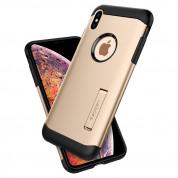 Spigen Slim Armor Case - хибриден кейс с поставка и най-висока степен на защита за iPhone XS Max (златист) 3