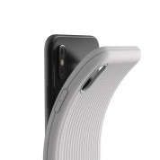 Verus Single Fit Label Case - хибриден удароустойчив кейс за iPhone XS Max (сив) 2