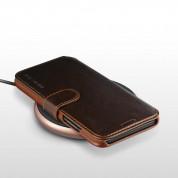 Verus Dandy Layered Case - кожен калъф, тип портфейл за iPhone XR (кафяв) 2