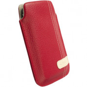 Krusell GAIA Mobile Pouch and mobile phones (red)