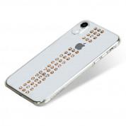 Bling My Thing Stripe Gold Swarovski - поликарбонатов кейс с кристали Сваровски за iPhone XR (прозрачен) 1