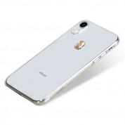 Bling My Thing Treasure Gold Skull Swarovski - поликарбонатов кейс с кристали Сваровски за iPhone XR (прозрачен) 1