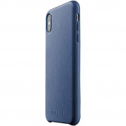 Mujjo Leather Case for iPhone XS Max (blue)