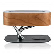 4smarts Inductive Charging Station Smart Bonsai QI B7 with BT Speaker and Lamp (black) 1