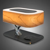 4smarts Inductive Charging Station Smart Bonsai QI B7 with BT Speaker and Lamp (black) 4