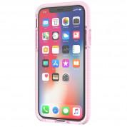Tech21 Evo Check Case - хибриден кейс с висока защита за iPhone XS, iPhone X (розов-прозрачен) 4