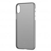 Baseus Wing case - тънък полипропиленов кейс (0.45 mm) за iPhone XS (сив)