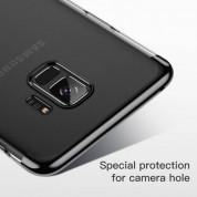 Baseus Glitter Case - поликарбонатов кейс за Samsung Galaxy S9 Plus (прозрачен-черен) 4