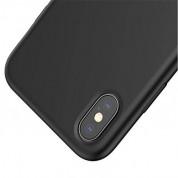 Baseus Original LSR Case - силиконов (TPU) калъф за iPhone X (черен) 1
