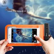Baseus Multi-functional waterproof bag - универсален водоустойчив калъф за смартфони до 6 инча (син) 3