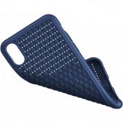Baseus BV 2 Gen Case - силиконов (TPU) калъф  за iPhone XS, iPhone X (син) 4