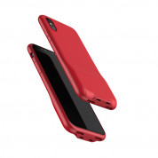 Baseus Audio Case - аудио кейс с два lightning порта (Audio+Charge)за iPhone X (червен)