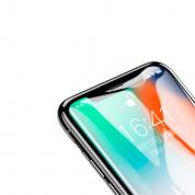 Baseus All-screen Arc-surface Tempered Glass (0.2 mm) - калено стъклено защитно покритие за целия дисплей на iPhone XS Max (прозрачен-черен)  1