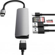 Satechi USB-C Multiport Adapter V2 - мултифункционален хъб за свързване на допълнителна периферия за компютри с USB-C (тъмносив) 7