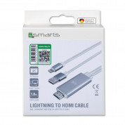 4smarts Lightning to HDMI Cable incl. Charging Function for mobile devices with Lightning standard (white) 1