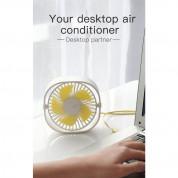 Baseus Flickering Desktop Fan - настолен мини вентилатор (бял) 1