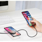 Baseus Wireless Charger Lightning USB Cable - Lightning кабел с пад за безжично зареждане за iPhone, iPad и iPod с Lightning (черен) 2