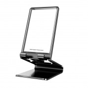 Baseus Suspension Glass Desktop Bracket - елегантна поставка за бюро и гладки повърхности за смартфони и таблети (черен) 5