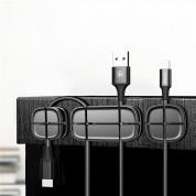 Baseus Cross Peas Cable Clip - органайзер за кабели (черен) 4