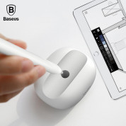 Baseus Apple Pencil Silicone Holder - силиконова поставка за Apple Pencil (сив) 4