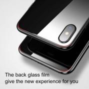 Baseus Back Glass Film - калено стъклено защитно покритие за задната част на iPhone XS (бял) 7