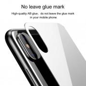 Baseus Back Glass Film - калено стъклено защитно покритие за задната част на iPhone XS (бял) 6