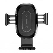 Baseus Heukji Wireless Charger Gravity Car Mount - поставка за таблото на кола с безжично зареждане за Qi съвместими смартфони (черен) 2