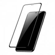 Baseus Full Screen Tempered Glass (0.30 mm) - калено стъклено защитно покритие за целия дисплей на iPhone XS Max (прозрачен-черен)  1
