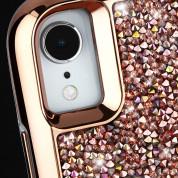 CaseMate Brilliance Case - кейс с висока защита и кристали за iPhone XR (розово злато) 3