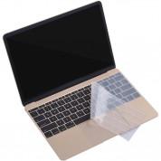 ZKY Keyboard Cover - силиконов протектор за клавиатурата на MacBook Pro with Touch Bar (прозрачен-мат) (bulk) 5