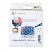 4smarts Hand Warmer 2000 mAh Mosaic Design with flashlight (white) 5