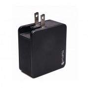 4smarts Travel Charger Set VoltPlug QC/PD 48W - захранване за ел. мрежа с USB-A изход и USB-C изход с адаптори за USA и UK стандарт (48W) (черен) 4