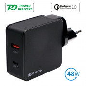 4smarts Travel Charger Set VoltPlug QC/PD 48W (black)