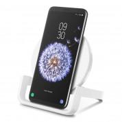 Belkin BOOST UP Wireless Charging Stand 10W - поставка (пад) за безжично захранване за  Apple, Samsung, LG, Sony и други QI съвместими устройства (бял) 6