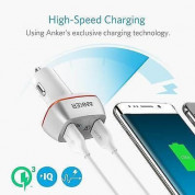 Anker PowerDrive+ 2 Ports Quick Charge 3.0 42W Dual USB Car Charger with PowerIQ (white) 1