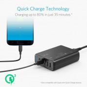 Anker PowerPort Speed 5 Ports (63W) With Quick Charge 3.0 - захранване с 5 x USB изхода за мобилни телефони и таблети (черен)  1