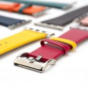 4smarts Leather Duett Wrist Band - кожена каишка за Apple Watch 42мм, 44 мм (жълт-червен) 1