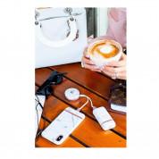 Richmond and Finch Pink Marble 5200 mAh - външна батерия с USB изход за мобилни устройства (бял) 5