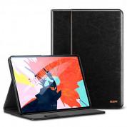 ESR Sdesign Premium Intelligent Leather Case - кожен калъф и поставка за iPad Pro 11 (черен)