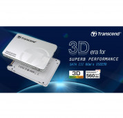 Transcend 512GB 2.5in. SSD230S SATA3 3D NAND Flash TLC - SSD диск, 512GB, 2.5 инча за преносими компютри 3