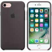 Apple Silicone Case - оригинален силиконов кейс за iPhone 8, iPhone 7 (тъмнокафяв) (разопакован продукт) 5